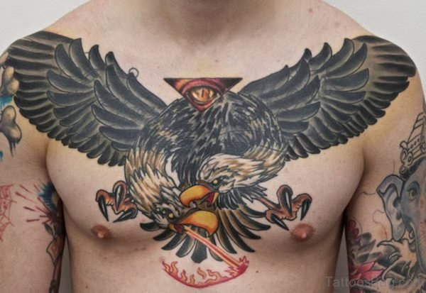 Eagle And Feather Tattoo