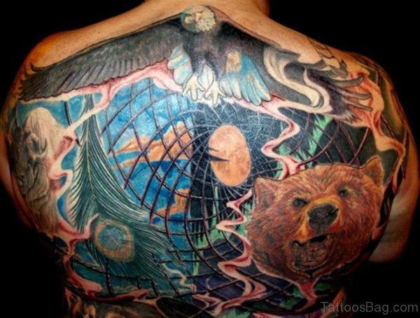 Eagle And Wolf Tattoo