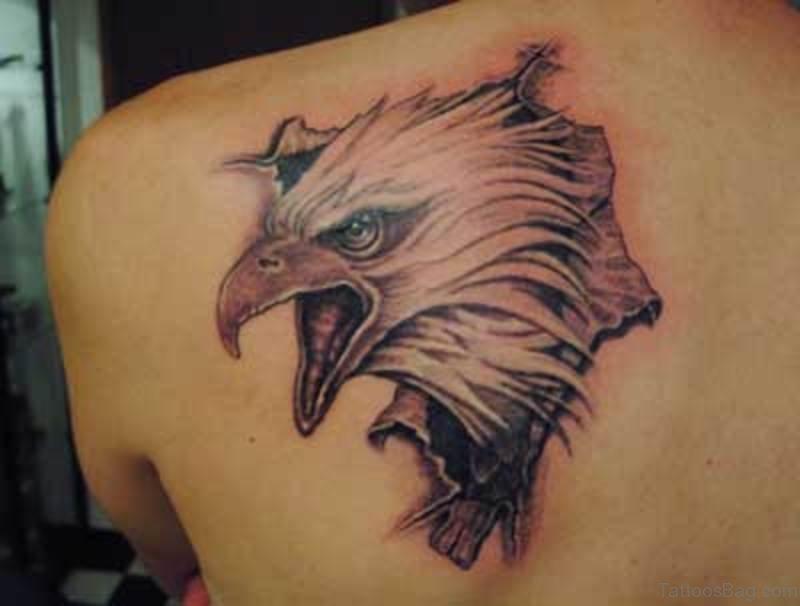 60 impressive eagle tattoos on back. Black Bedroom Furniture Sets. Home Design Ideas