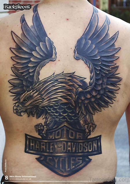 Eagle Tattoo On Back