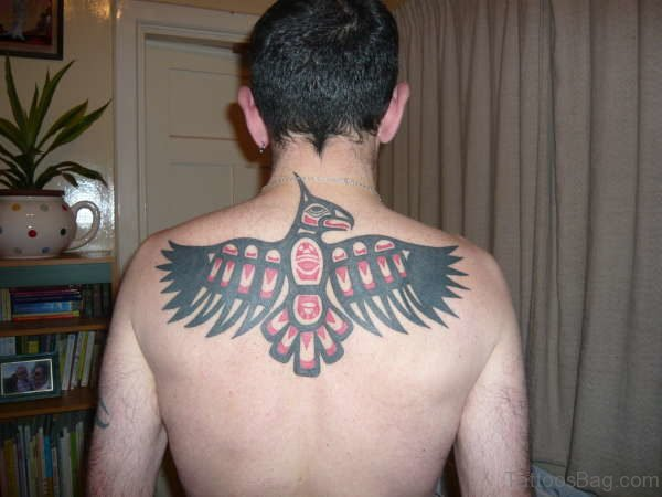 Eagle Tattoo On Upper Back