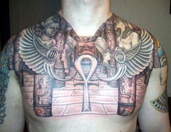 Egyptian Colorful Tattoo Design