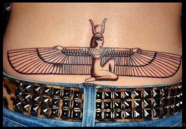 Egyptian Lower Back Tattoo