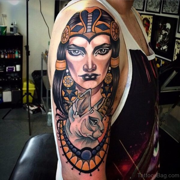 Egyptian Queen Sphinx Tattoo