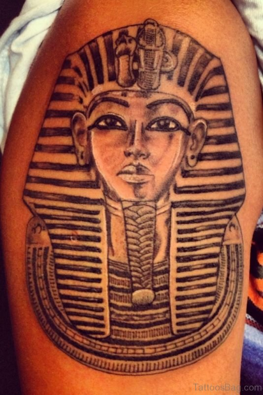 Egyptian Style Tattoo On Shoulder