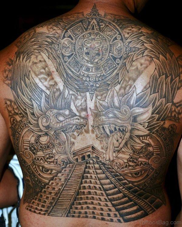 Egyptian Tattoo Design On Full Back