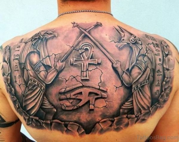 Egyptian Tattoo On Back