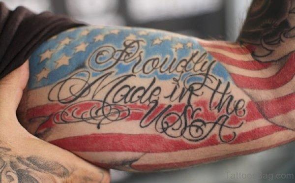Elegant American Flag Tattoo