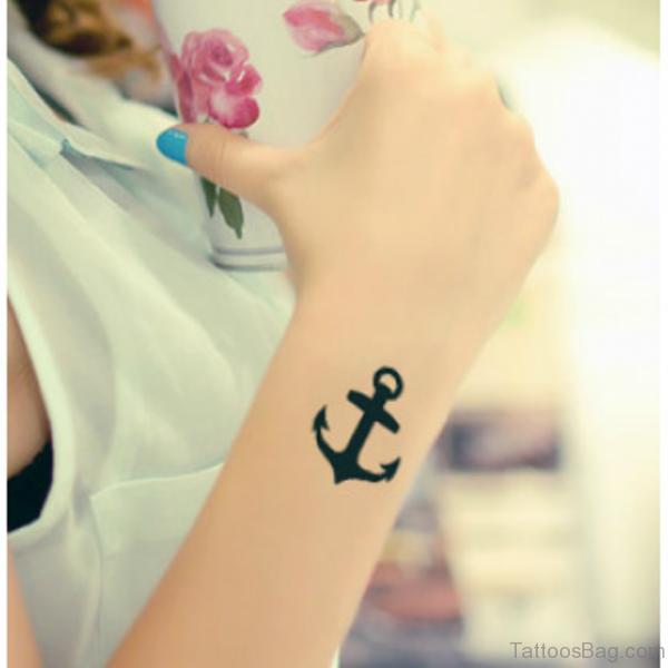 Elegant Anchor Tattoo