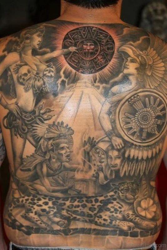 Elegant Aztec Tattoo