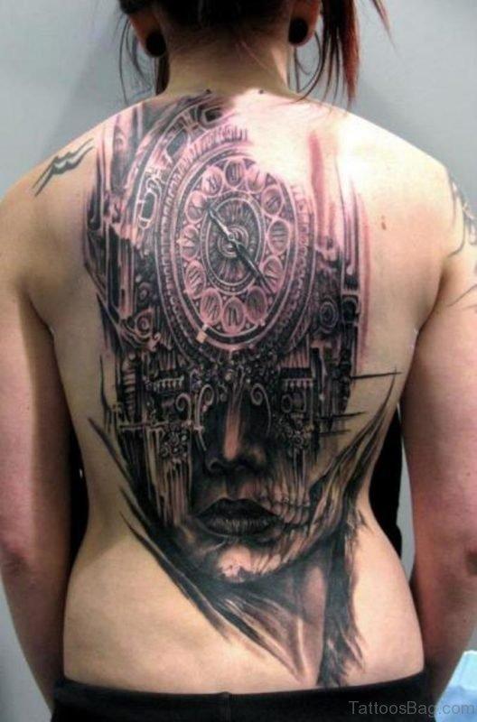 Elegant Back Tattoo