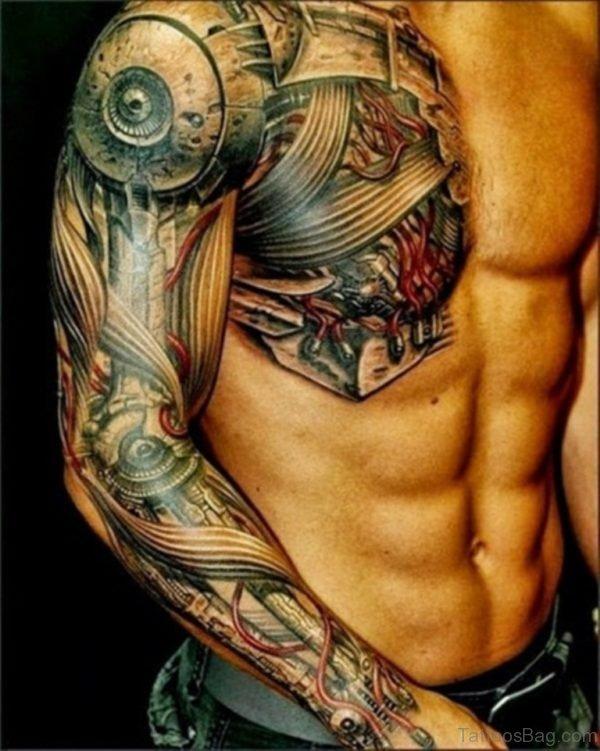 Elegant Chest Tattoo