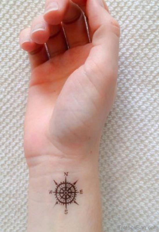 Elegant Compass Tattoo Design