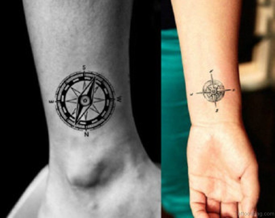 74 Gorgeous Compass Tattoos For Wrist