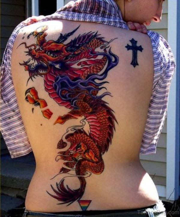 Elegant Dragon Tattoo Design