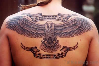 Elegant Eagle Tattoo On Back