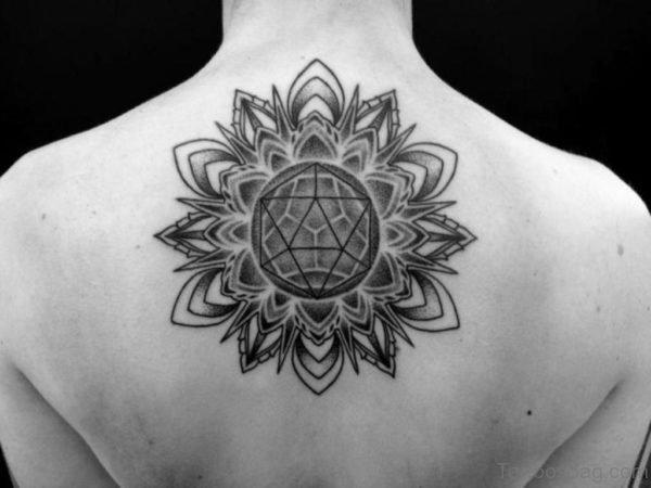 Elegant Geometric Tattoo On Back