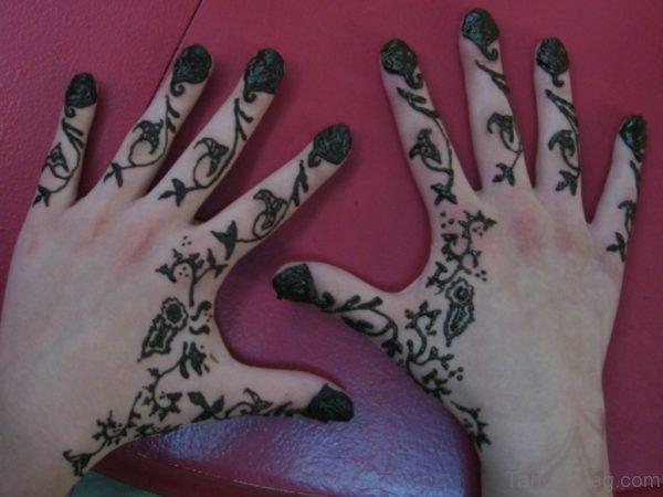 Elegant Henna Flower Tattoo Design