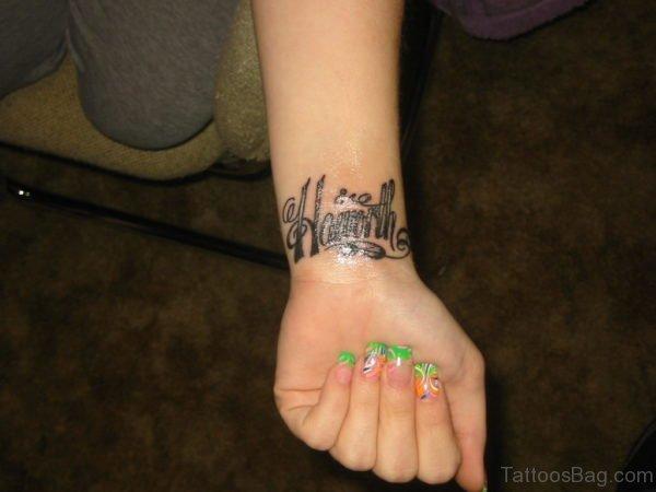 Elegant Initials Tattoo