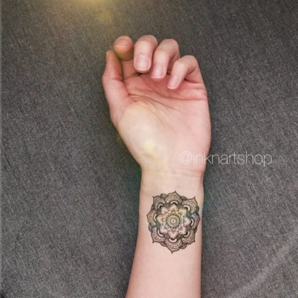 Elegant Mandala Tattoo On Wrist