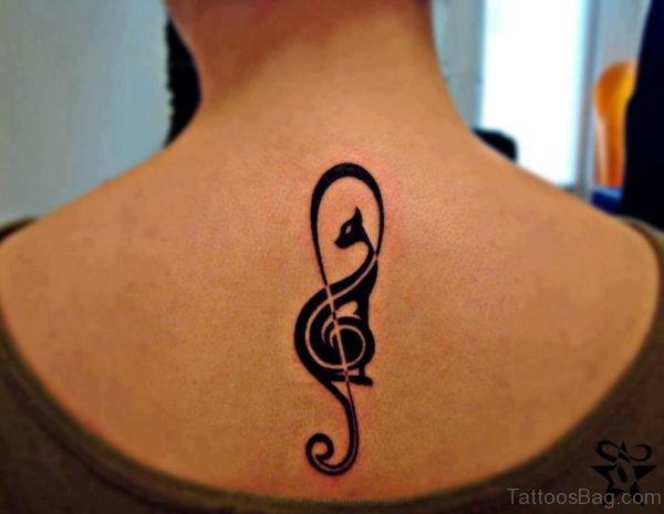 Elegant Music Symbol Tattoo