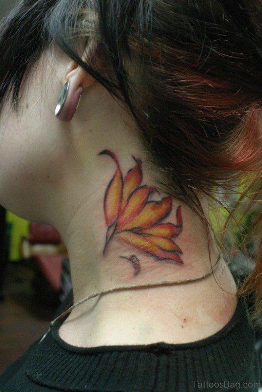 Elegant Neck Tattoo For Women