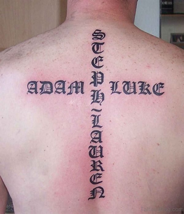 Old English Tattoo On Back