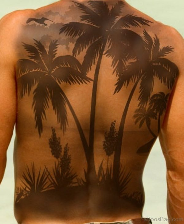 Elegant Palm Tree Tattoo