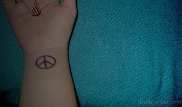 Elegant Peace Tattoo