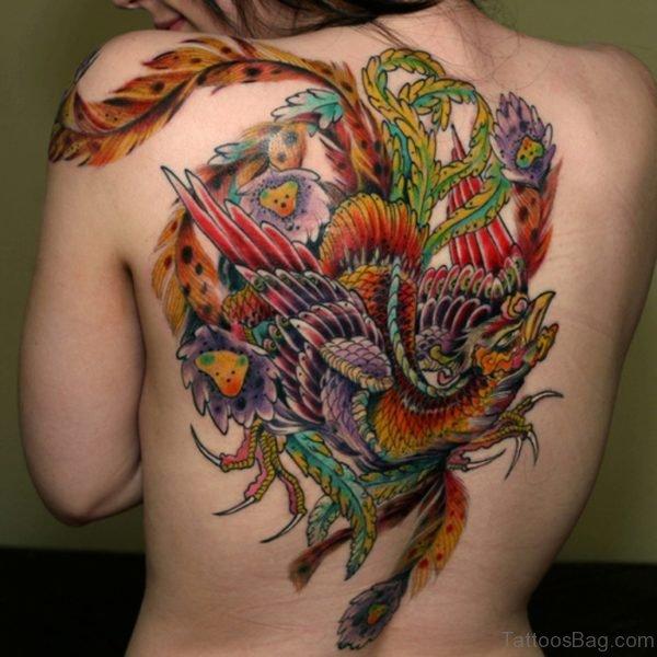 Elegant Phoenix Tattoo