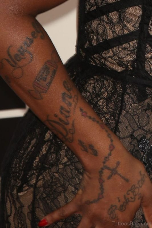 Elegant Rosary Tattoo