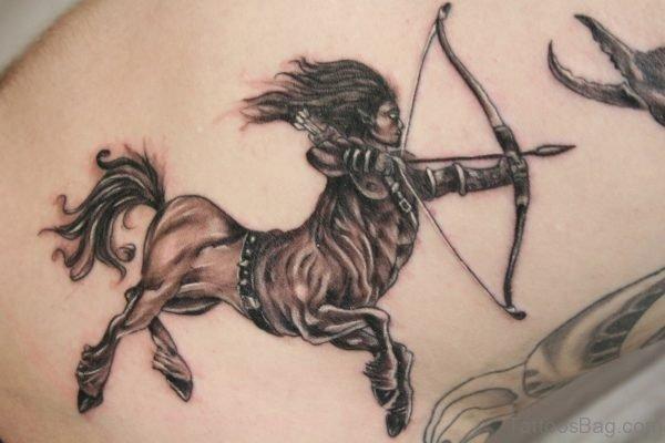 Elegant Sagittarius Shoulder Tattoo