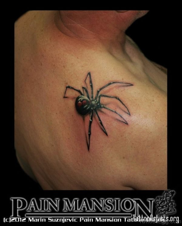 Elegant  Spider Tattoo Design