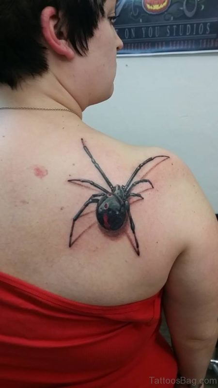 Elegant  Spider Tattoo