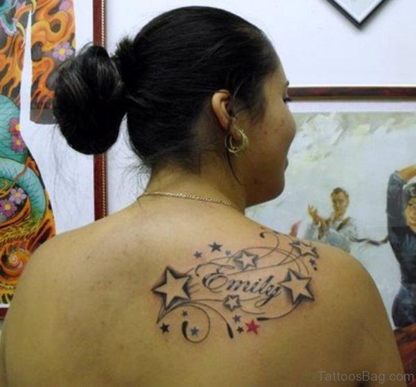 Elegant Stars Vine Tattoo