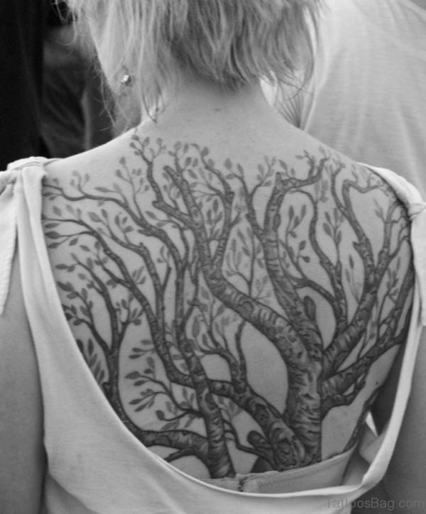 Elegant Tree Tattoo Design