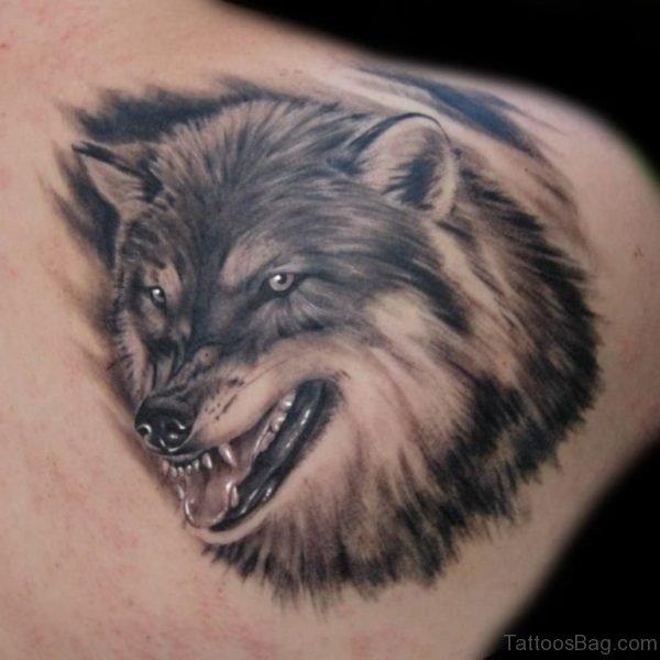 Elegant Wolf Tattoo