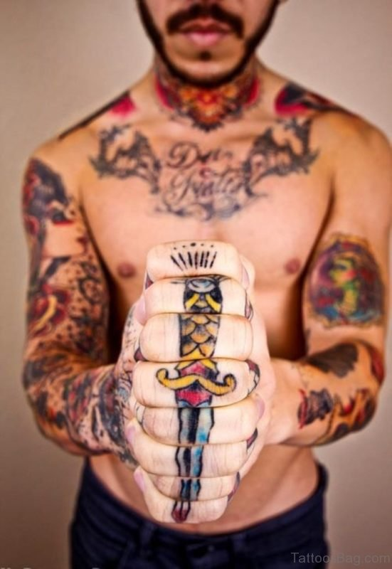 Elegant knuckle Tattoo