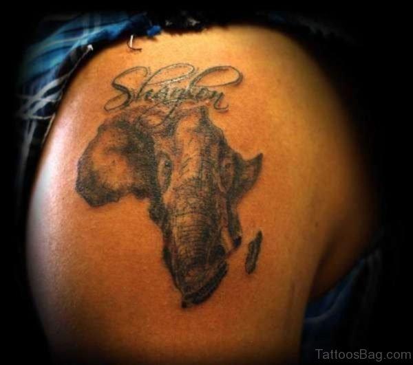 Elephant Face Tattoo