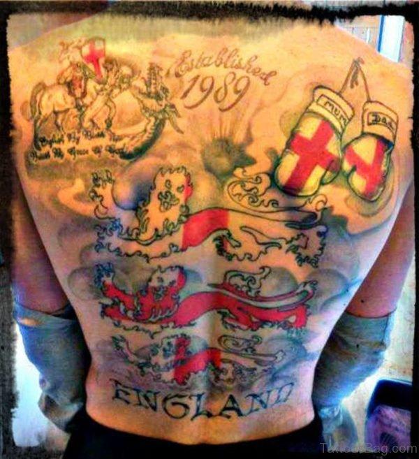 England Patriotic Tattoo