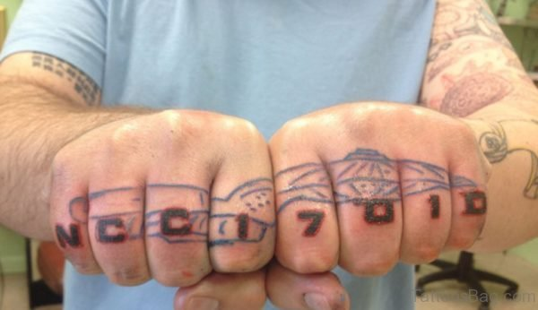 Enterprise knuckle Tattoo
