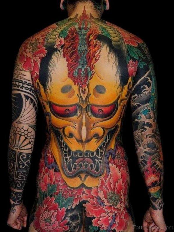 Evil Mask Tattoo