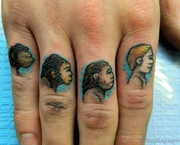 Evolution knuckles Tattoo