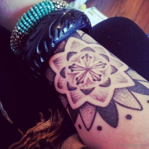Excellent Mandala Flower Tattoo