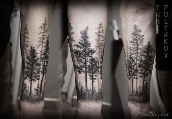 Excellent Tree Tattoo On Wrist