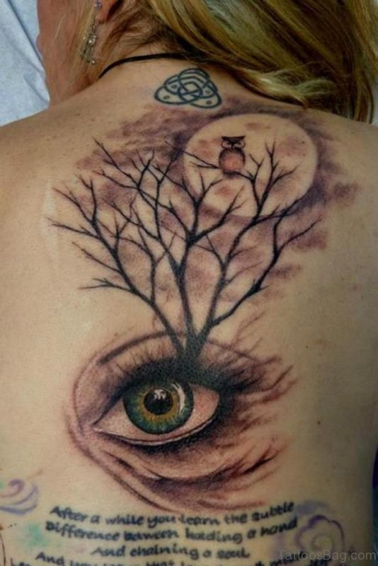 Eye And Tree Tattoo