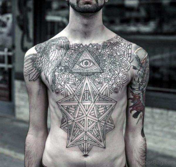 Eye Tattoo On Chest