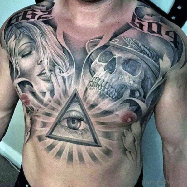 Eye With Skull Tattoo