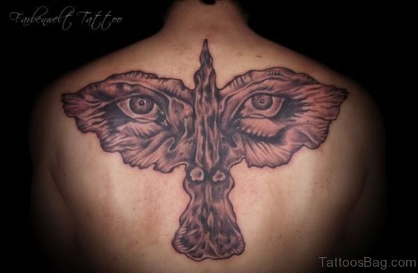 Eyes And Crow Tattoo
