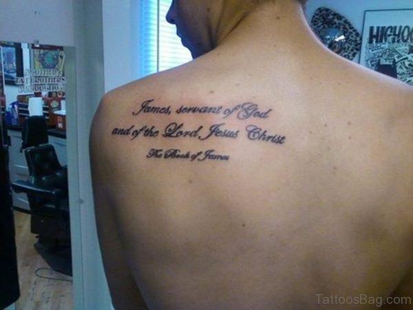 Fabulous Bible Verses  Tattoo On Back